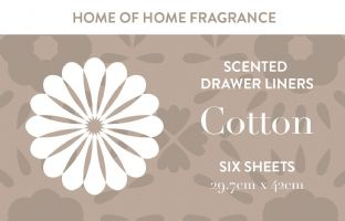 Home of Home Fragrance Scented Drawer Liners  - Silver Gift Tube - Cotton